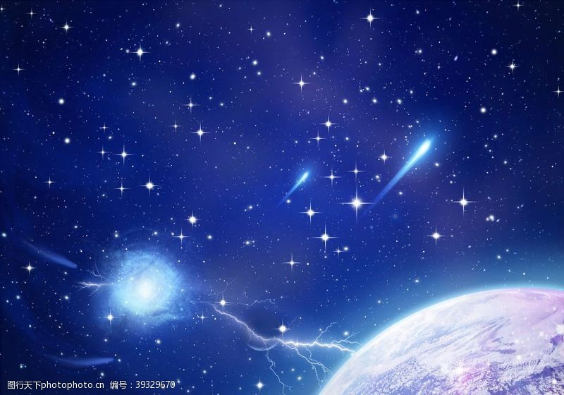 唯美星空星空梦幻星空星空背景图片
