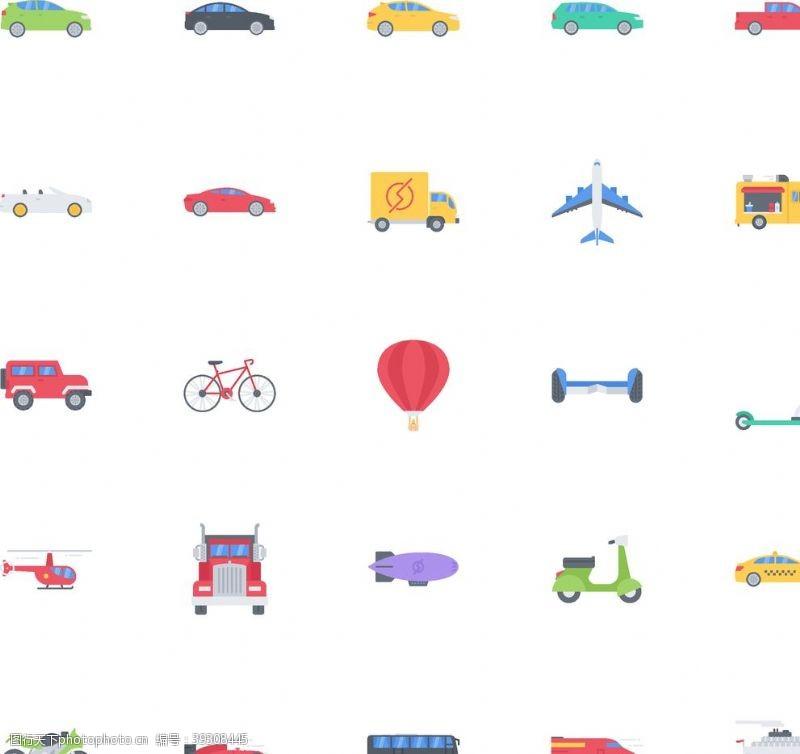 越野车运输车辆图标图片
