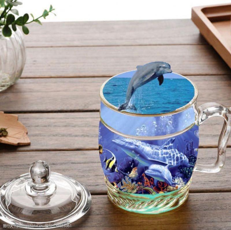 杯中海豚图片