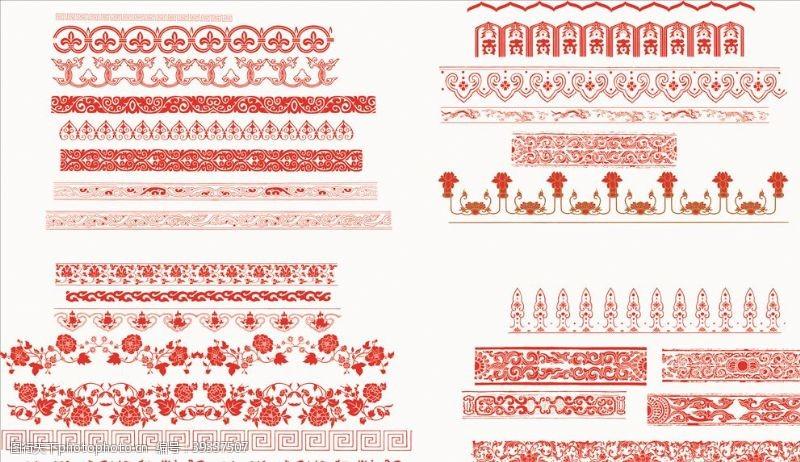 欧式花纹边框素材图片