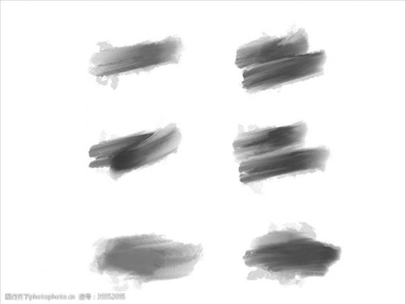 喷溅墨迹笔刷图片
