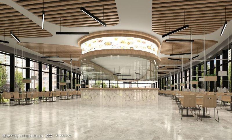 北欧大学餐厅设计图图片