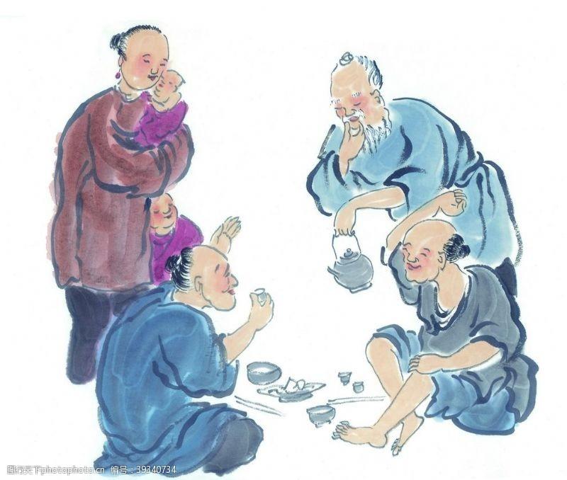 古人古代男性人物图片
