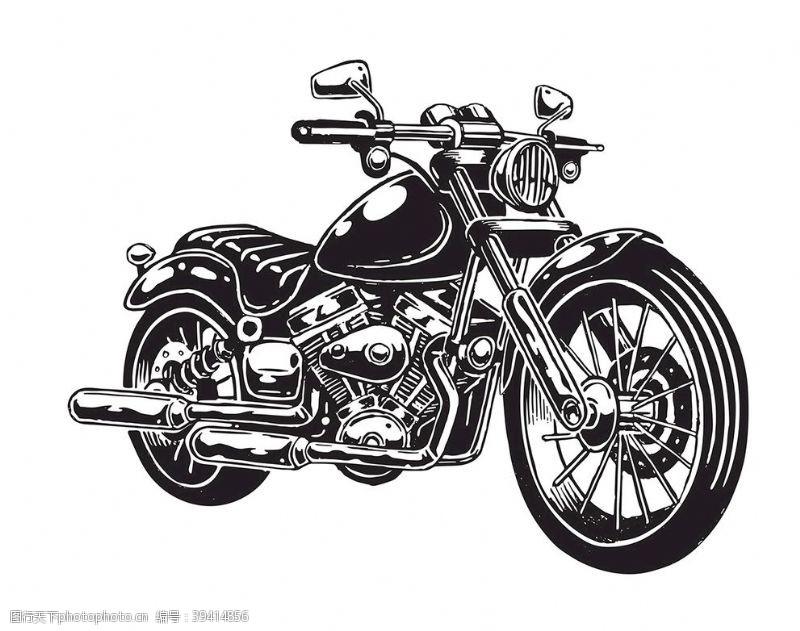 club黑色时尚摩托车图片