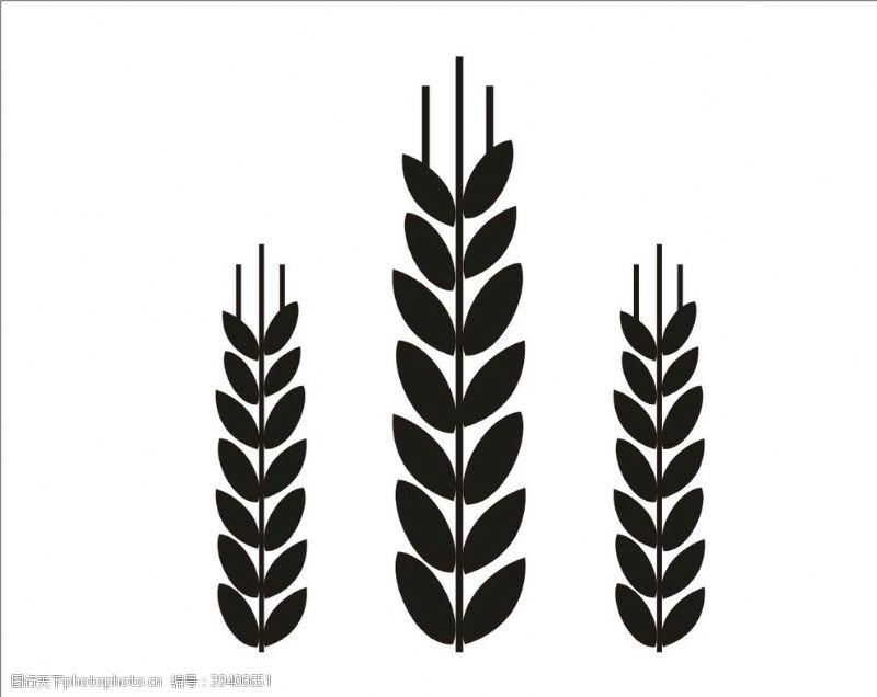 装饰海报麦穗图片
