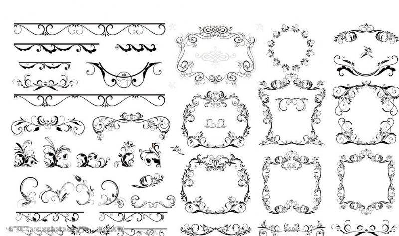 古典风格欧式边框花纹图片