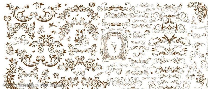 古典风格欧式条纹花纹图片