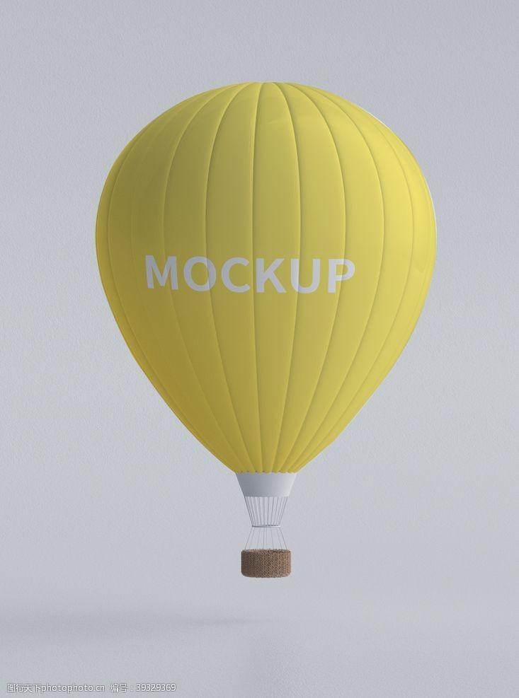 智能模板气球样机图片