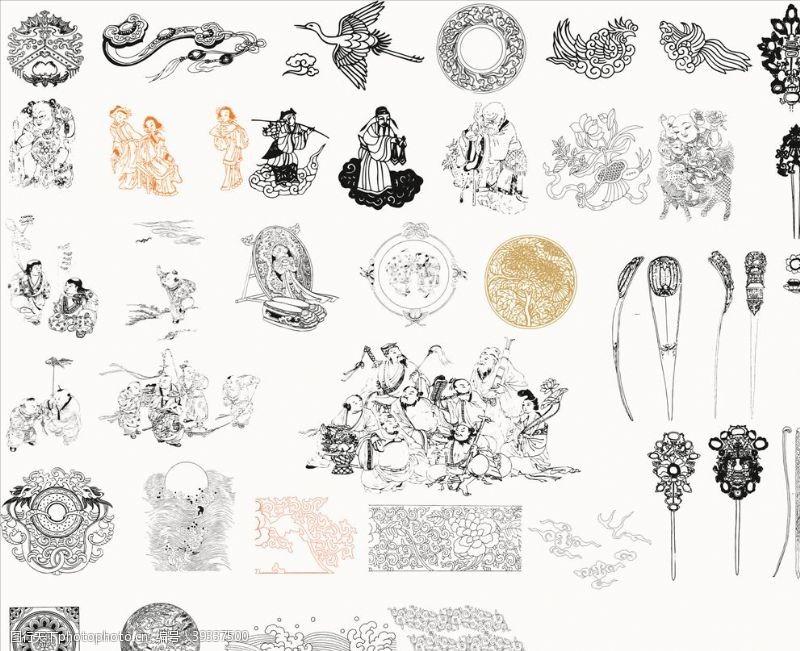 欧式花纹人物图案图片