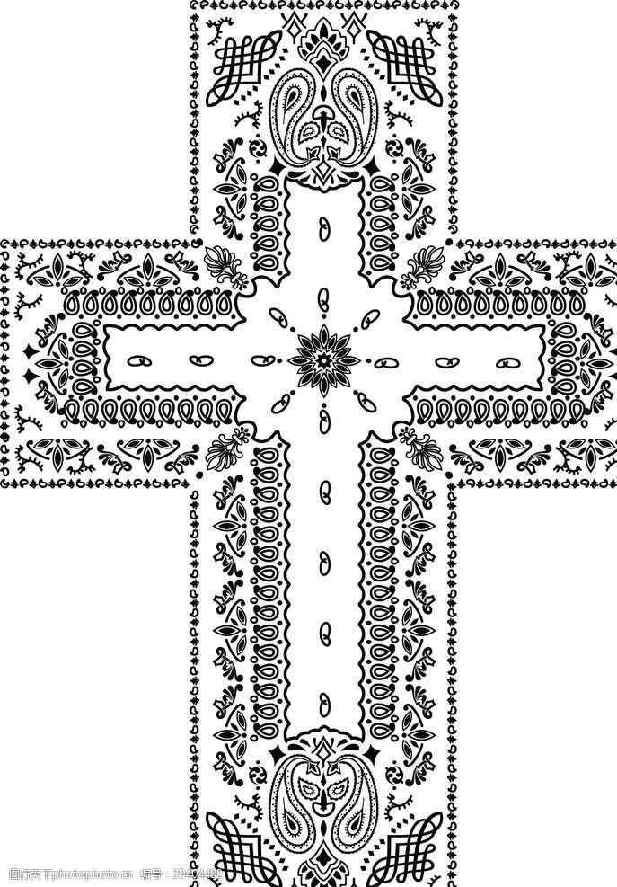 t恤设计十字架图片