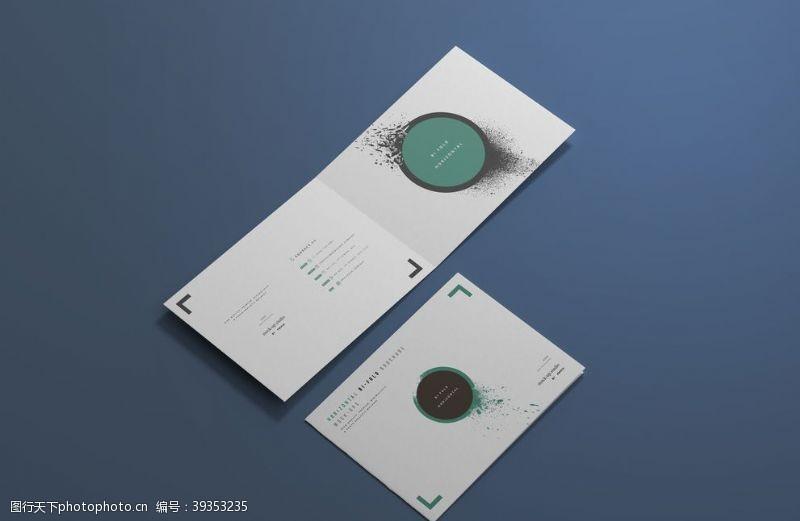 ps素材双折页设计图片