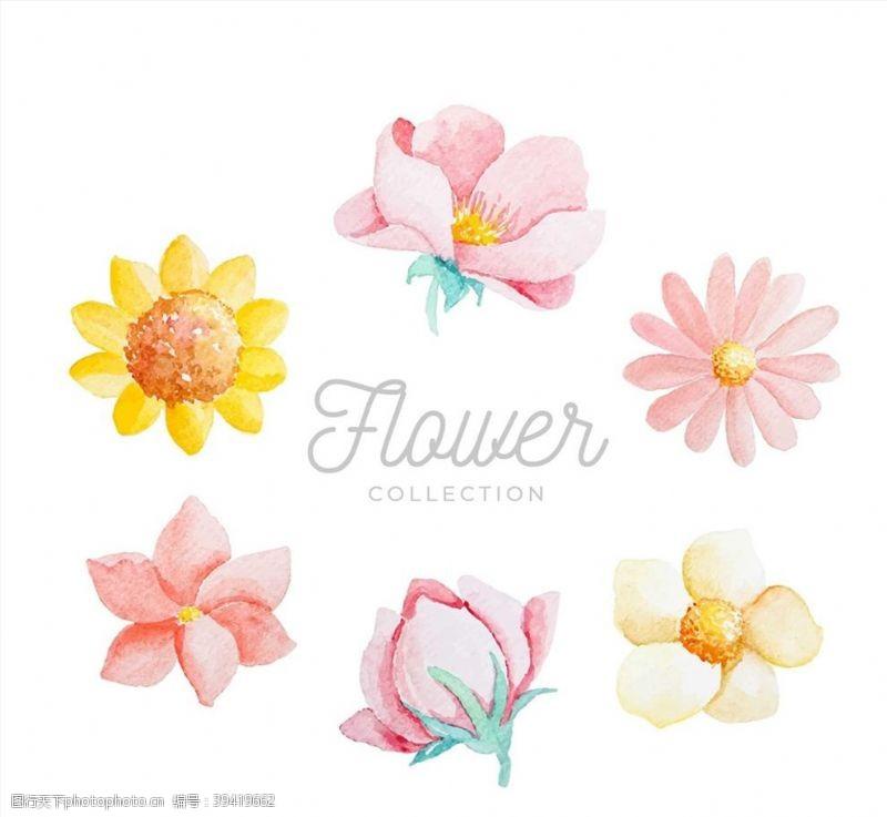 水彩绘花朵设计图片