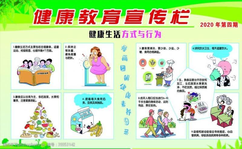 生活常识健康教育宣传栏图片