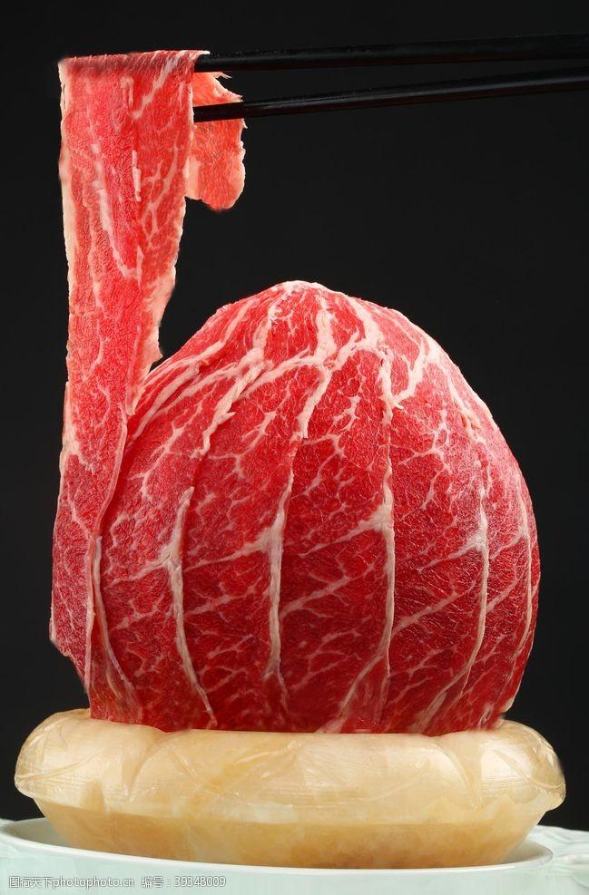 菜系極品牛肉極品肥牛圖片