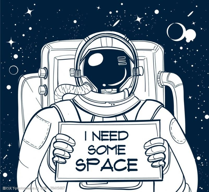需要举纸板的宇航员图片