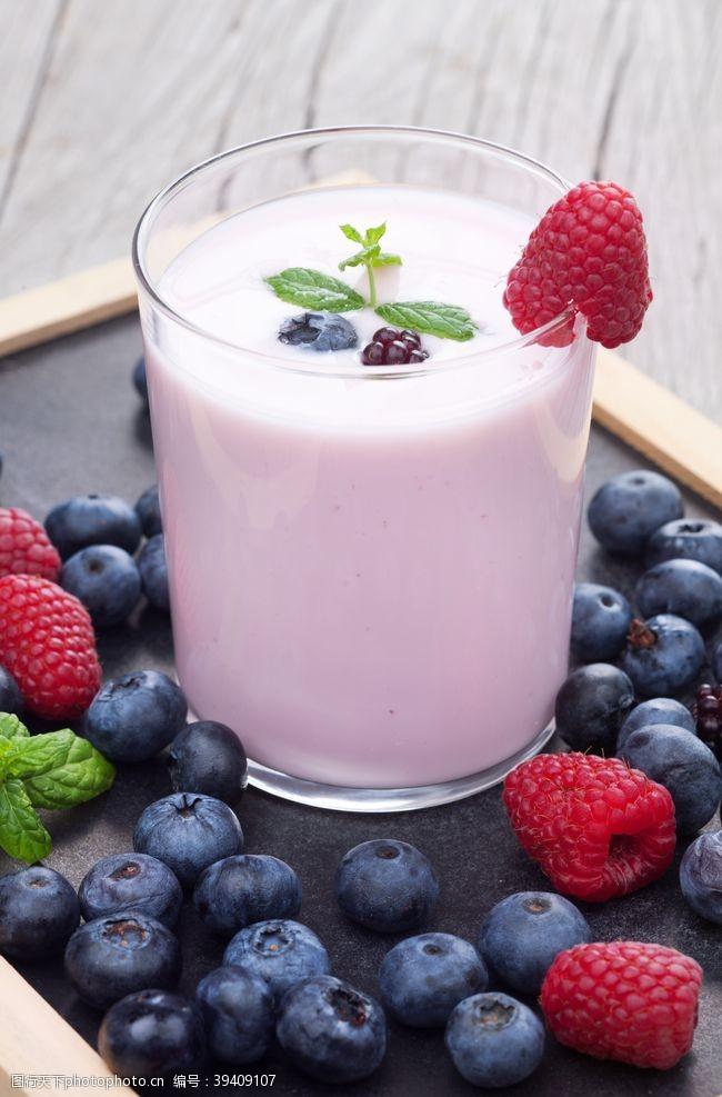 背景素材蓝莓酸奶饮品饮料背景海报素材图片