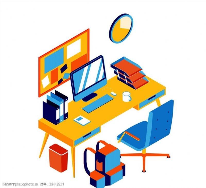鼠标立体办公桌设计图片