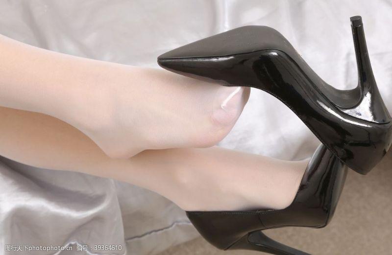 性感美女美腿丝袜美女高跟鞋连裤袜图片