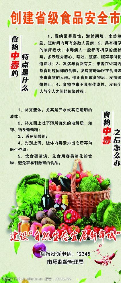 消化道食物中毒展架图片