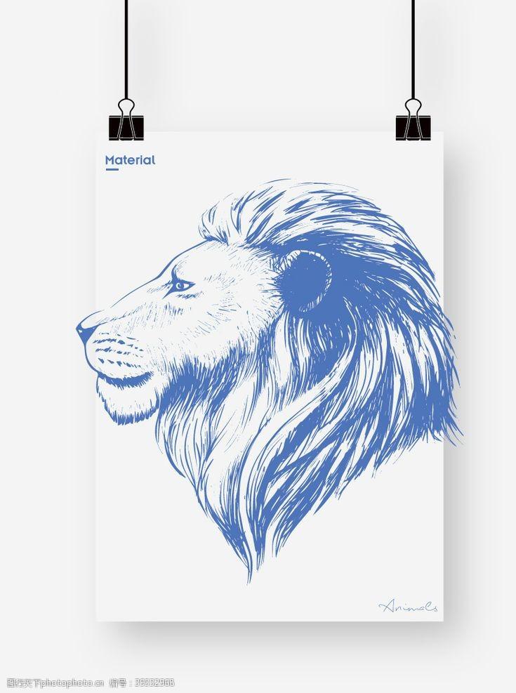 卡通雄狮狮子图片