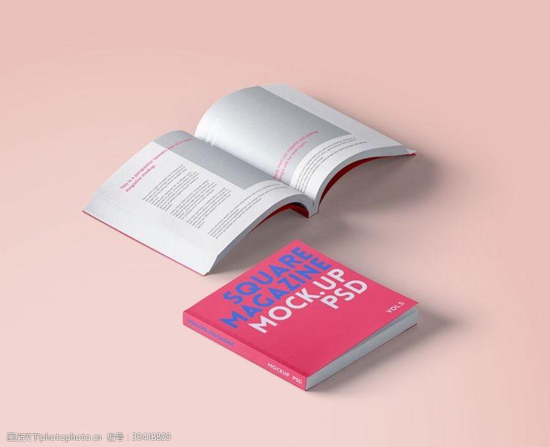 画册设计书刊样机图片