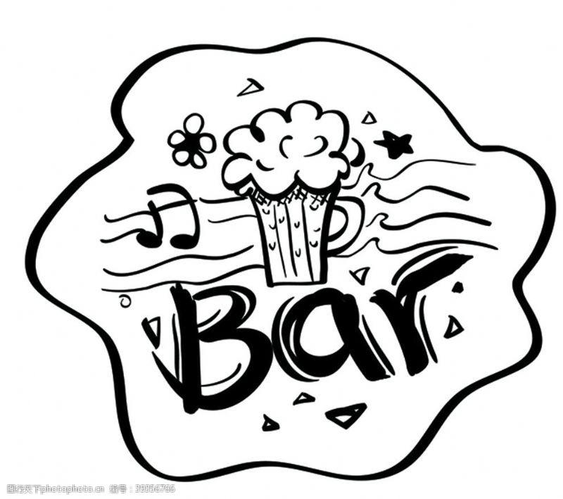 涂鸦画涂鸦酒吧图标图片