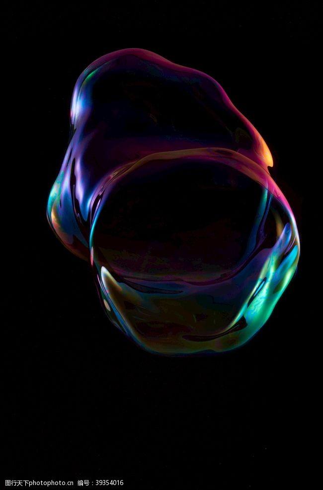 水泡炫彩泡泡气泡图片