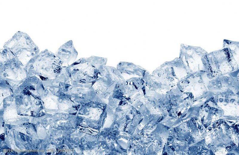 背景素材冰块冰冻冷饮背景海报素材图片