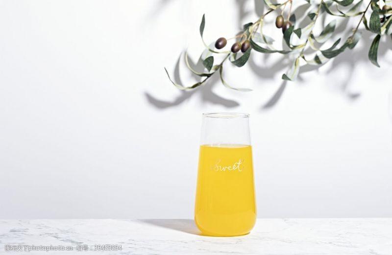 背景素材橙汁饮品饮料背景海报素材图片