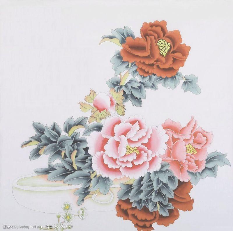 欧式花纹大花玫瑰图片