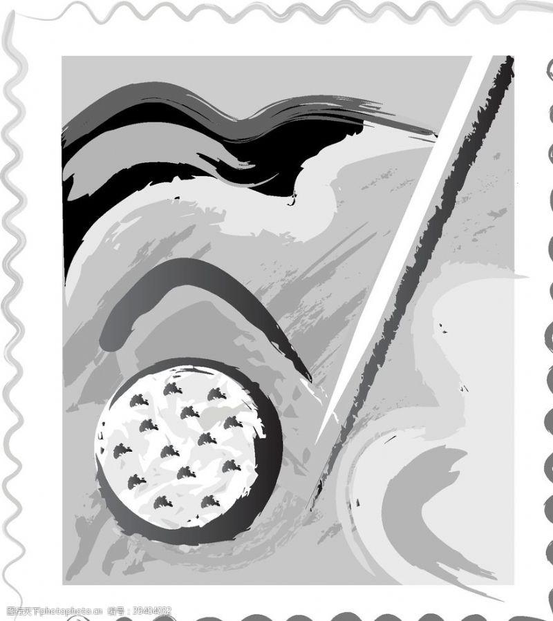 球场绘画插图黑白相框图片