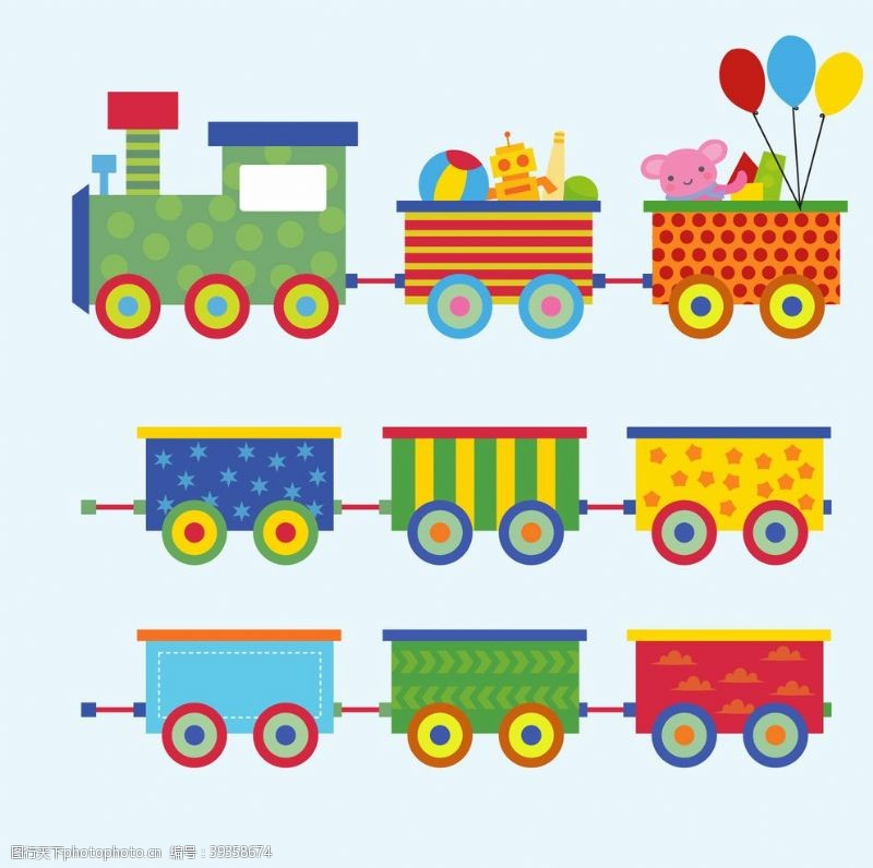 城轨火车幼儿园素材图片