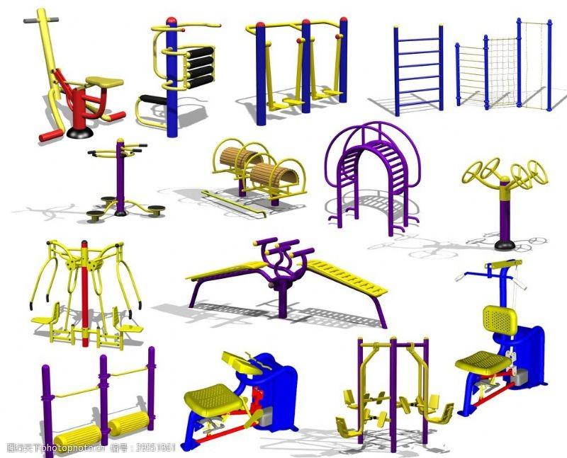 锻炼身体健身器材带通道图片