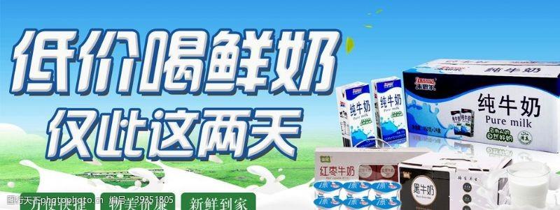 高钙奶牛奶海报图片