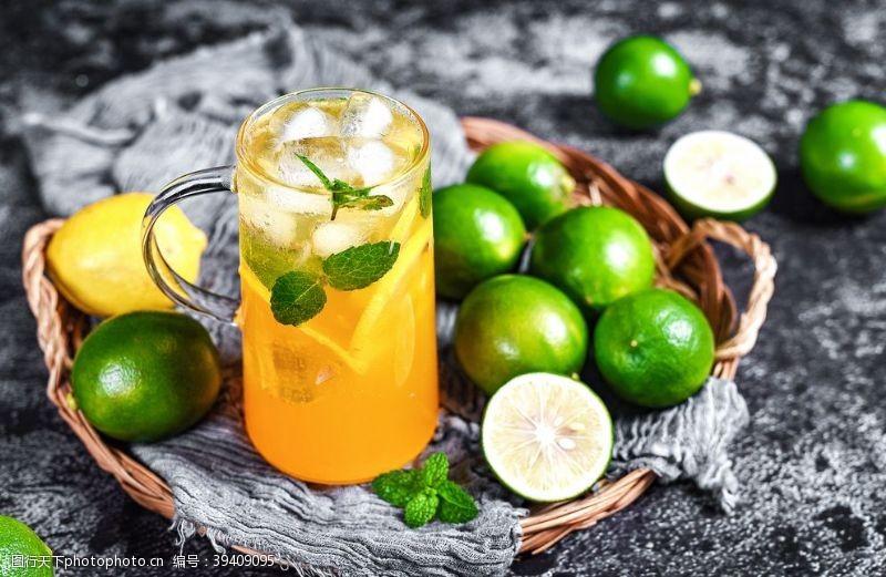 背景素材青桔饮品饮料背景海报素材图片