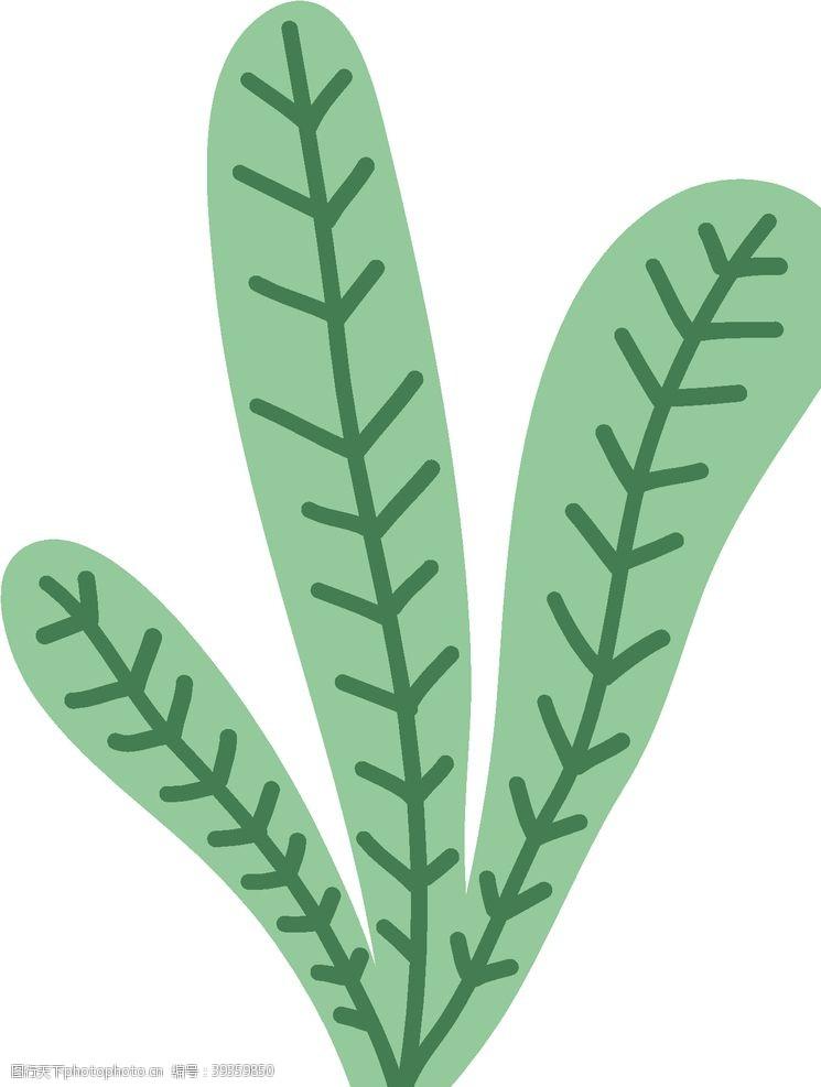 欧式花纹手绘绿植图片