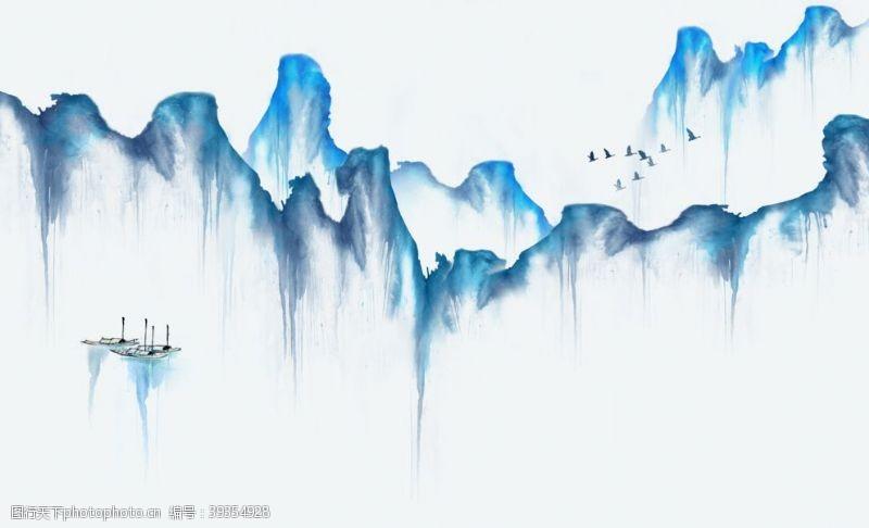 国内广告设计水墨山水图片