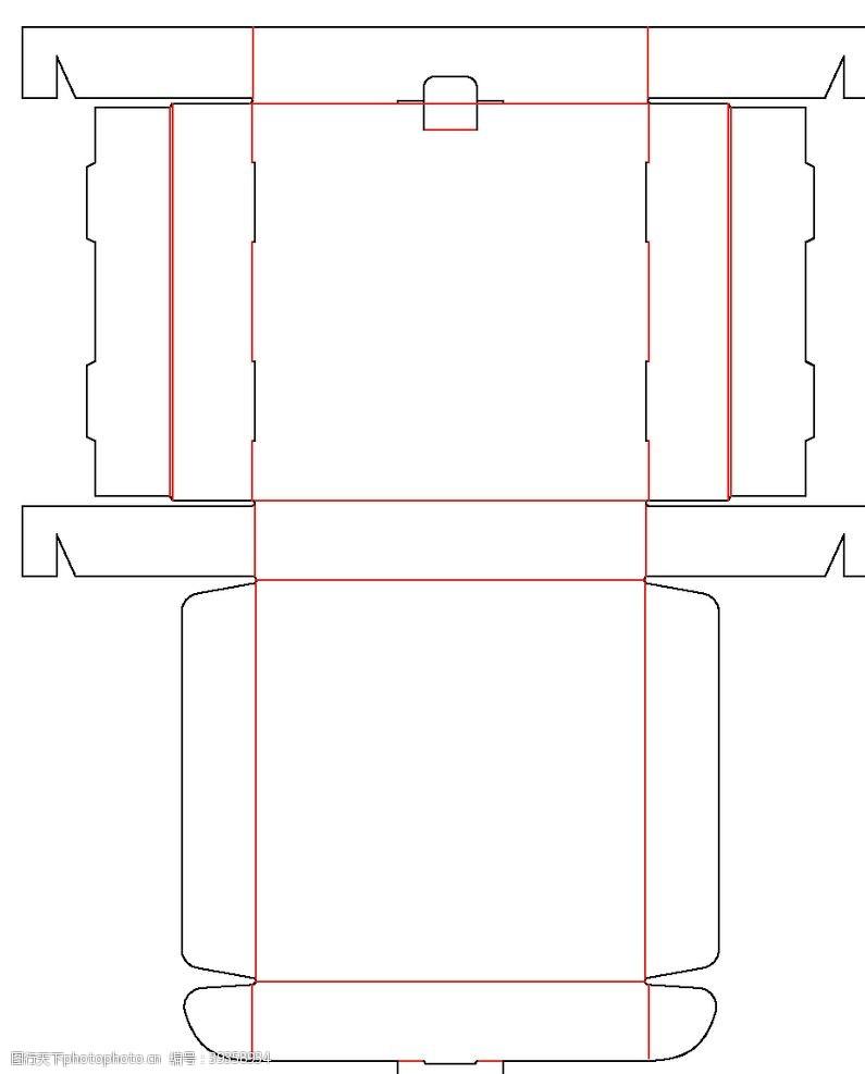 包装设计异形飞机盒刀版图图片
