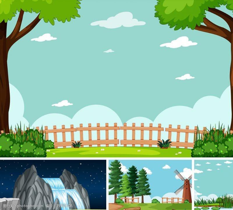 大树设计园林景观图片