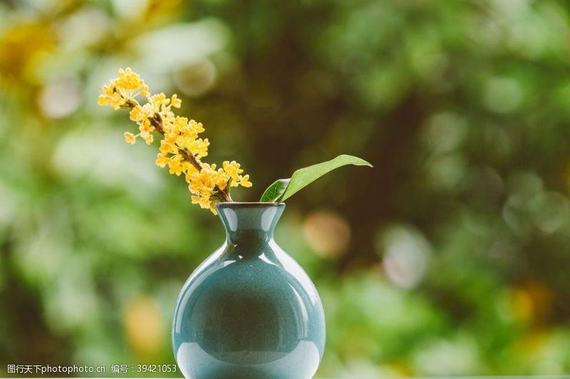 建筑桌子上的花瓶图片