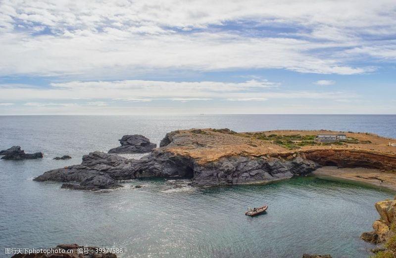 悬崖漂亮的哥斯达黎加海景摄影图片