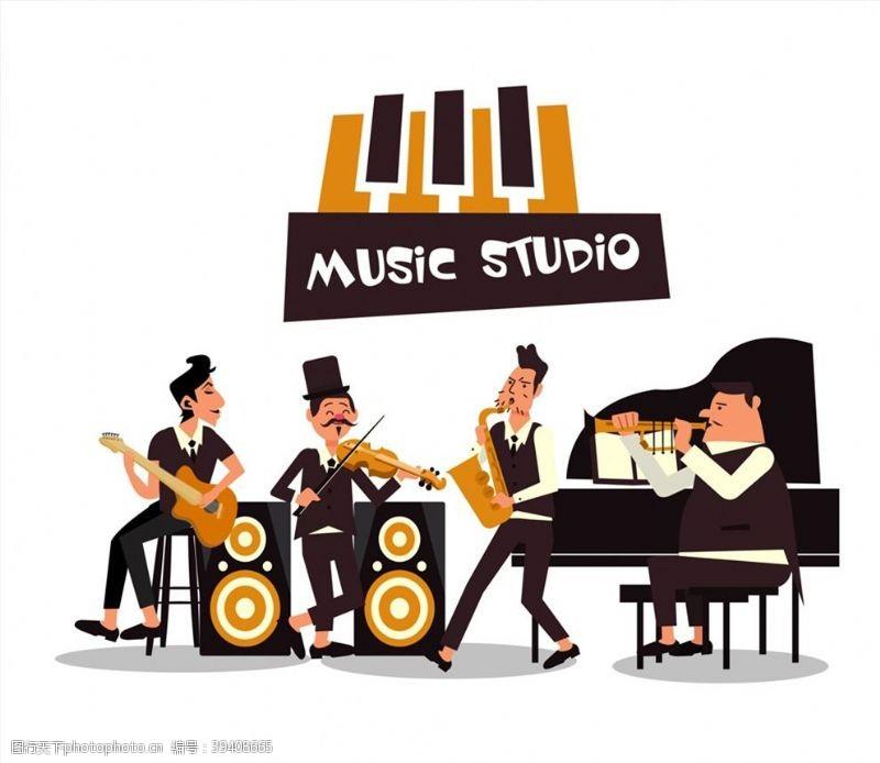 音乐工作室人物图片