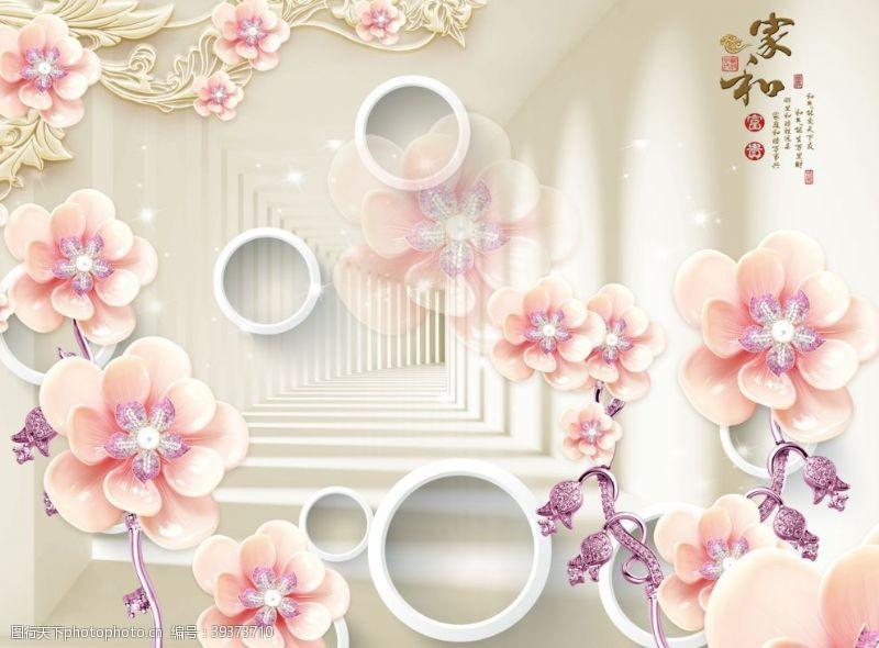 3d背景墙立体空间素材中式图片