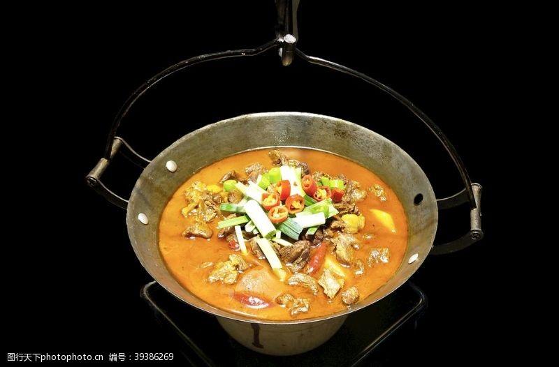 美食菜品吊锅牛肉图片