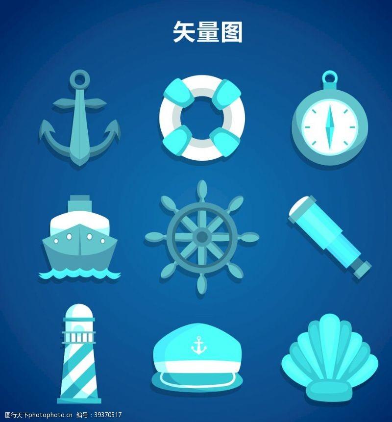 灯塔航海图标图片