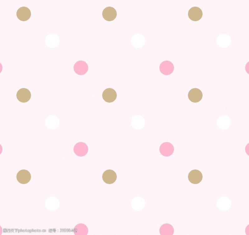 几何简单艳丽圆点图片