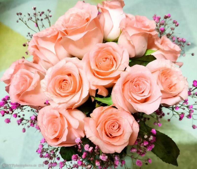 爱在情人节玫瑰花图片