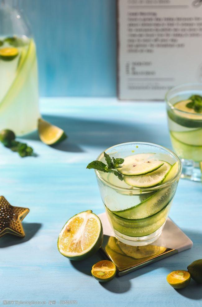 背景素材柠檬水饮料饮品背景海报素材图片