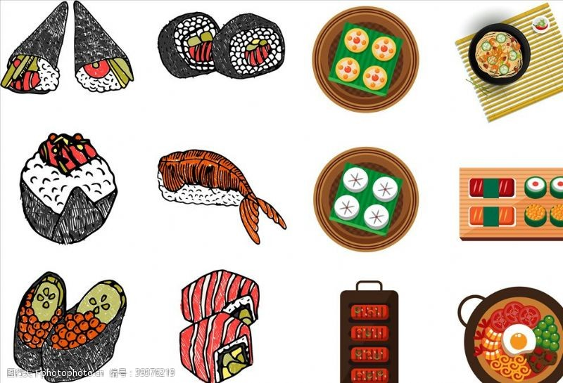 日本美食日本日式元素图片