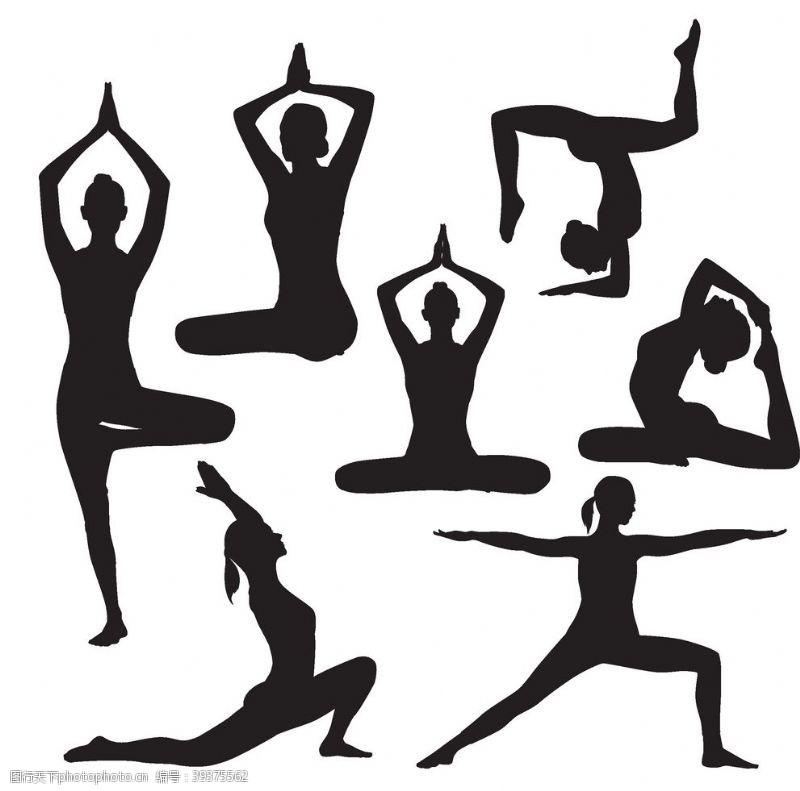 其他人物舞蹈的人物黑色剪影素材下载图片